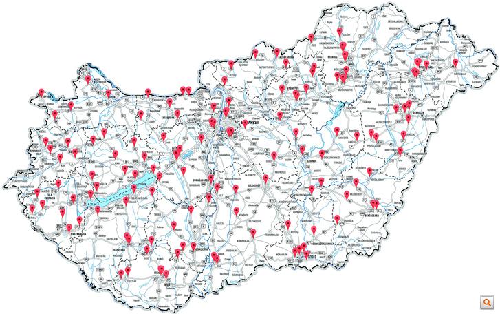 Fixní kamery systému Véda v Maďarsku
